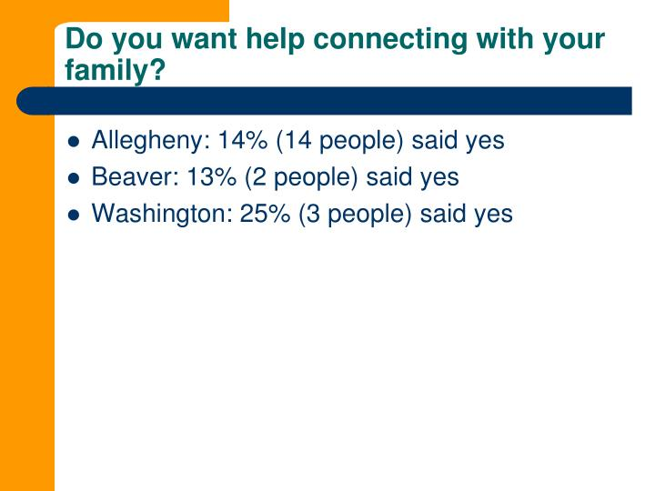 Do you want help connecting with your family?