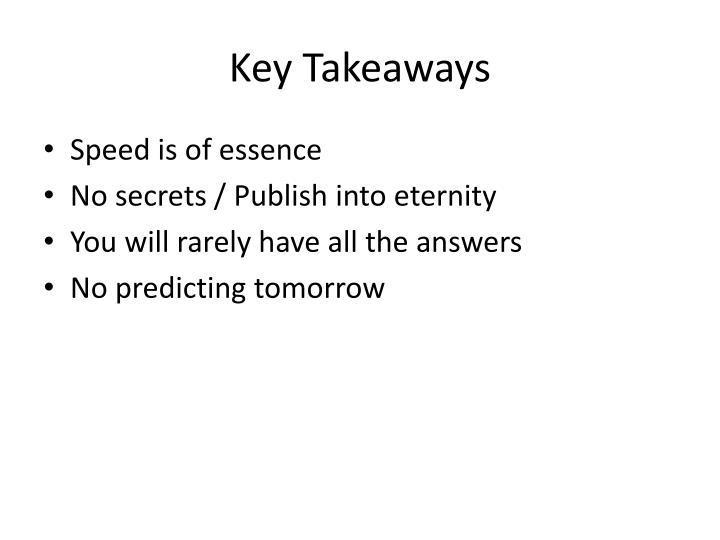 Key Takeaways