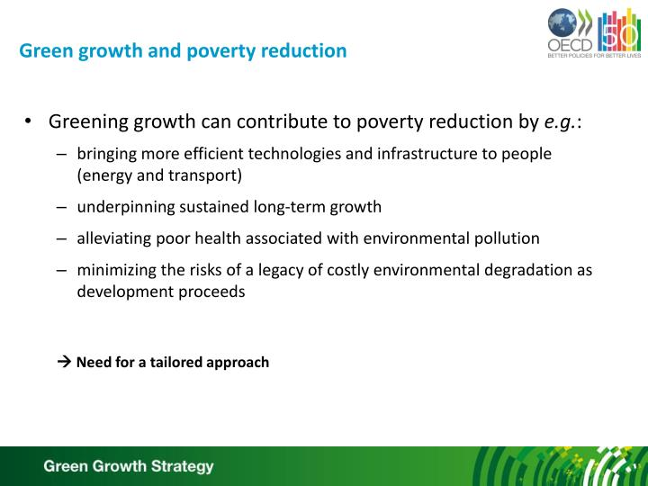 Green growth and poverty reduction