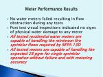 meter performance results