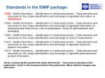 standards in the idmp package