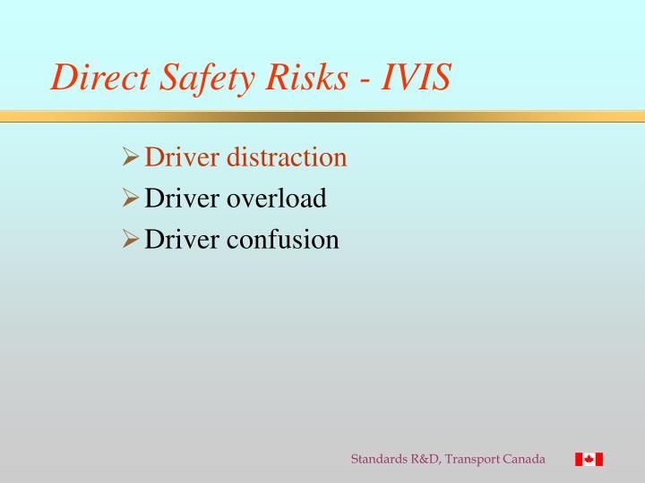 Direct Safety Risks - IVIS