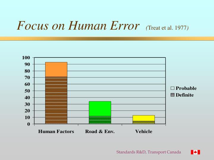 Focus on Human Error