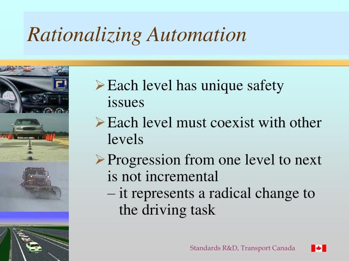 Rationalizing Automation