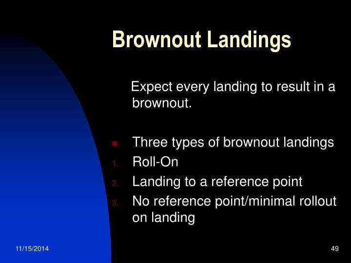 Brownout Landings