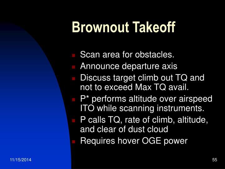 Brownout Takeoff