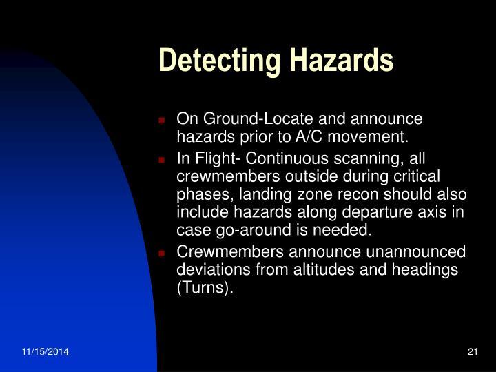 Detecting Hazards