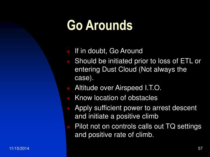Go Arounds