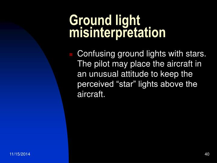Ground light misinterpretation