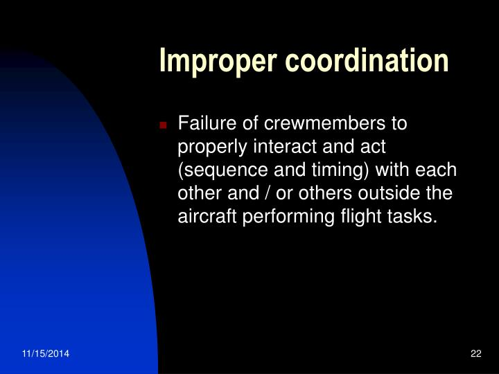 Improper coordination