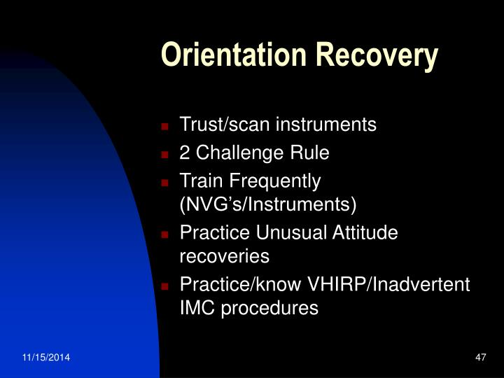 Orientation Recovery