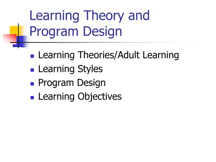 learning theory and program design n.