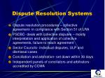 dispute resolution systems