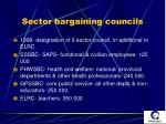 sector bargaining councils