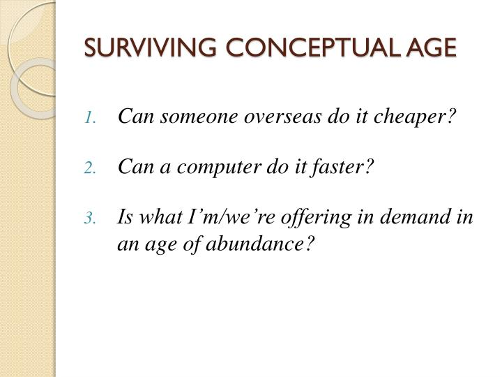 SURVIVING CONCEPTUAL AGE