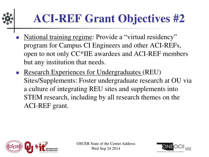 ACI-REF Grant Objectives #2