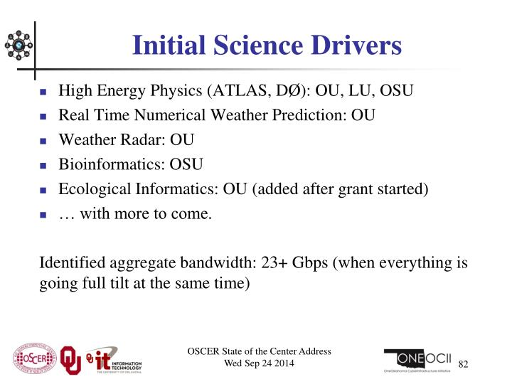 Initial Science Drivers