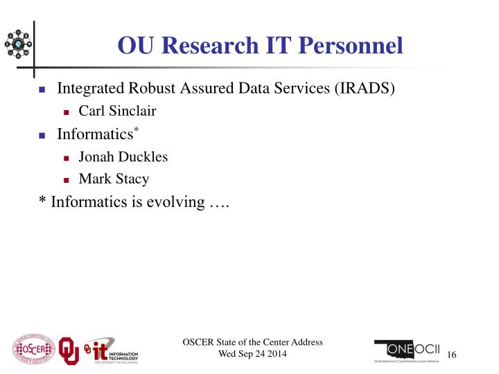 OU Research IT Personnel