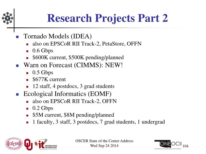 Research Projects Part 2