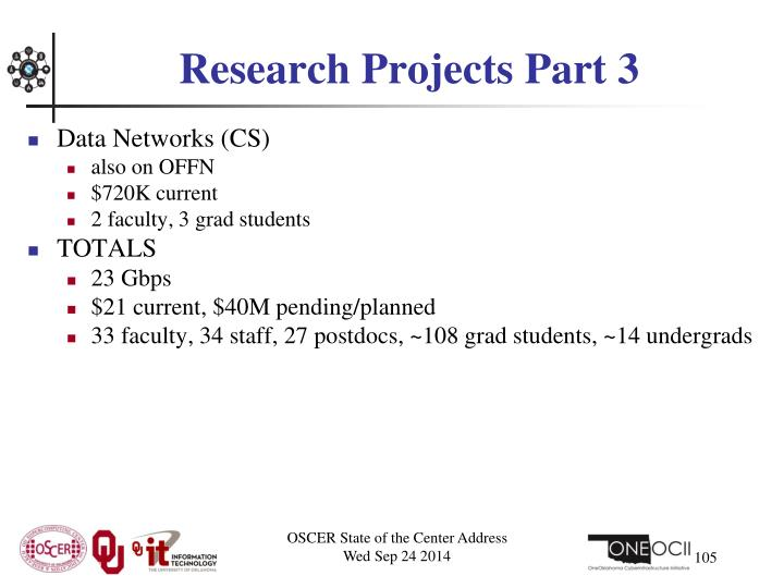Research Projects Part 3