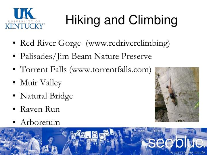 Hiking and Climbing