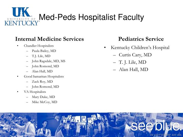 Med-Peds Hospitalist Faculty