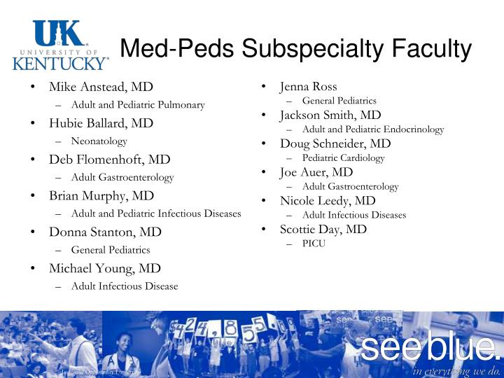 Med-Peds Subspecialty Faculty