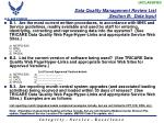 data quality management review list section b data input