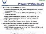 provider profiles con t1