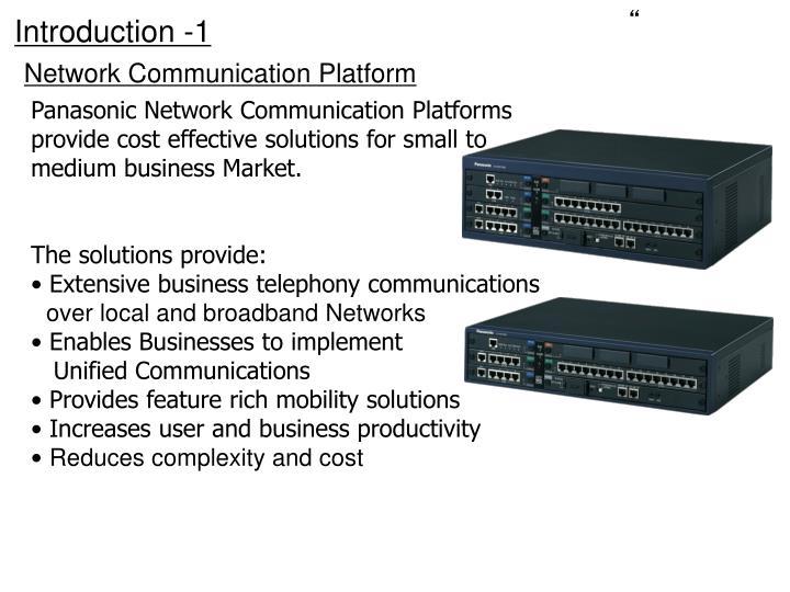 Network communication platform