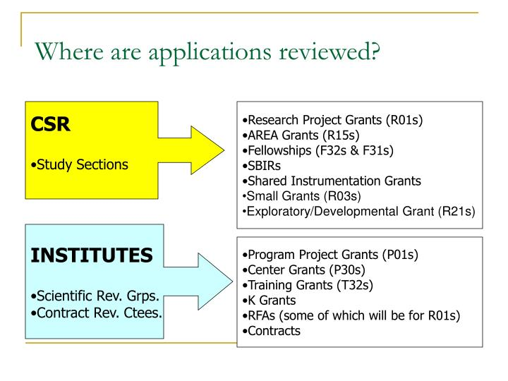 Where are applications reviewed