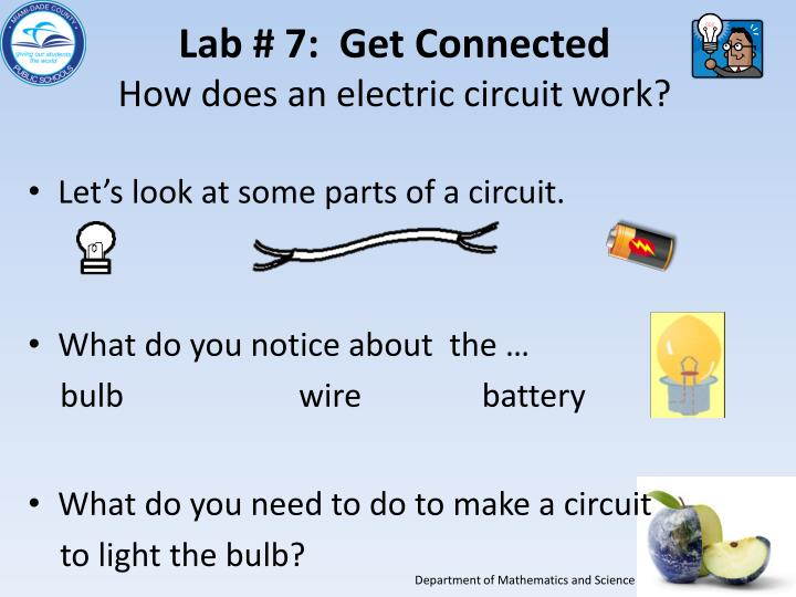 PPT - Grade 5 Electricity and Get Connected: Essential Lab # 7 ...