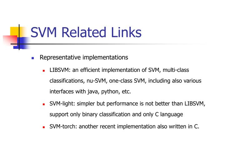 SVM Related Links