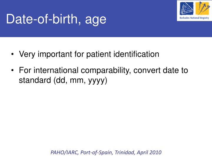 Date-of-birth, age