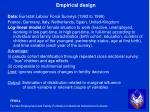empirical design
