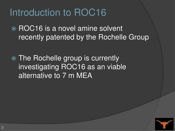 Introduction to roc16