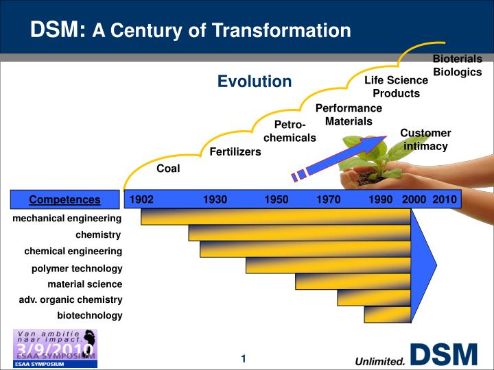 Dsm a century of transformation