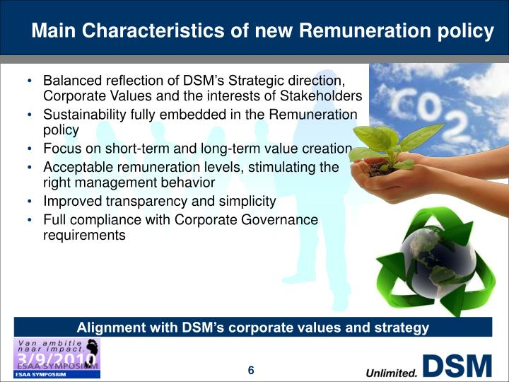 Main Characteristics of new Remuneration policy