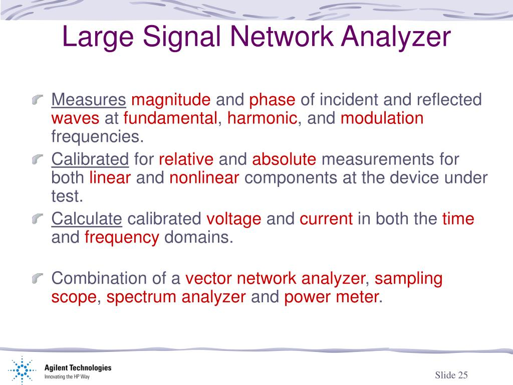 PPT - Network Analyzers From Small Signal To Large Signal