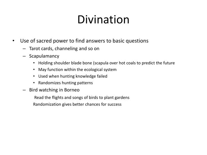 Divination