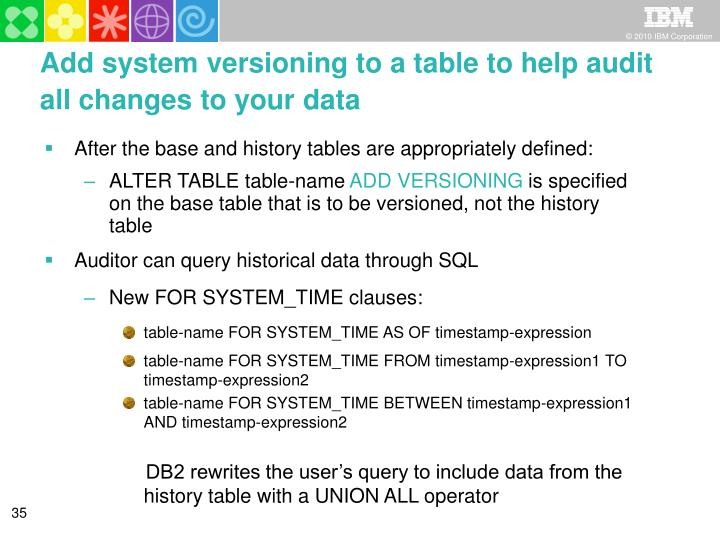 Add system versioning to a table to help audit all changes to your data