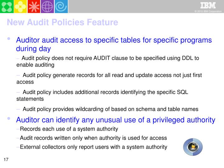 New Audit Policies Feature