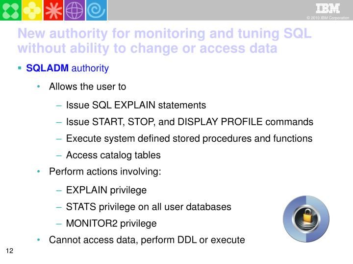 New authority for monitoring and tuning SQL without ability to change or access data