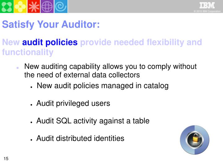 Satisfy Your Auditor: