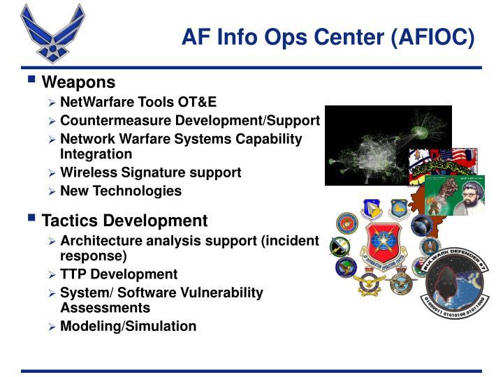 AF Info Ops Center (AFIOC)