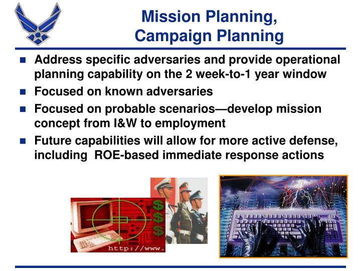 Mission Planning,           Campaign Planning