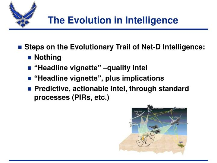 The Evolution in Intelligence
