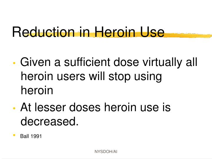 Reduction in Heroin Use