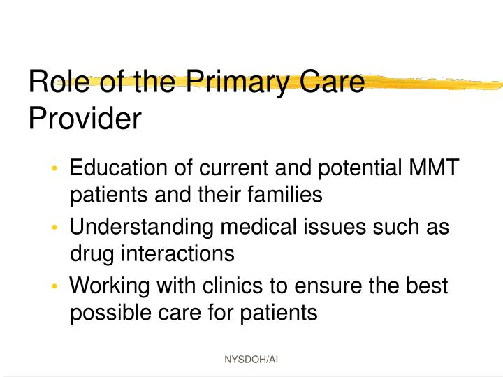 Role of the Primary Care Provider