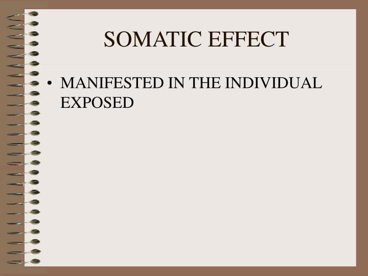SOMATIC EFFECT